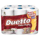 PAPEL HIGIENICO DUETTO PERFUMADO LEVE + PAGUE - 6X12X30MT