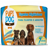 TAPETE HIGIENICO PAPI DOG C/7UND