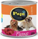 RACAO UMIDA P/CAES PAPI DOG CARNE 290GR