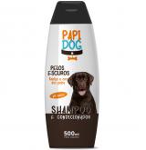 SHAMPOO/CONDICIONADOR PAPI DOG PELOS ESCUROS 500ML