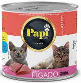 RACAO UMIDA P/GATOS PAPI CAT FIGADO 290GR