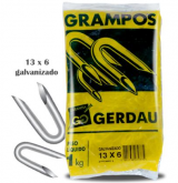 GRAMPO GERDAU 13X6 GALVANIZADO TELA