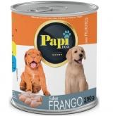RACAO UMIDA P/ CAES FILHOTE PAPI DOG FRANGO 290GR