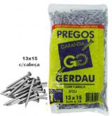 PREGO GERDAU 13X15 ESTAMPADO